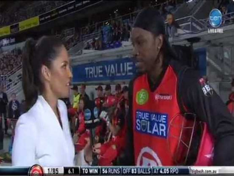 'Cheeky' Chris Gayle Flirts With Female Reporter During Live Interview in Big Bash League