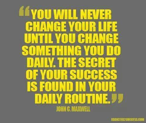 The Routine of Success!