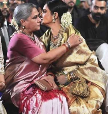 Rekha and Jaya Bachchan spotted hugging at an event
