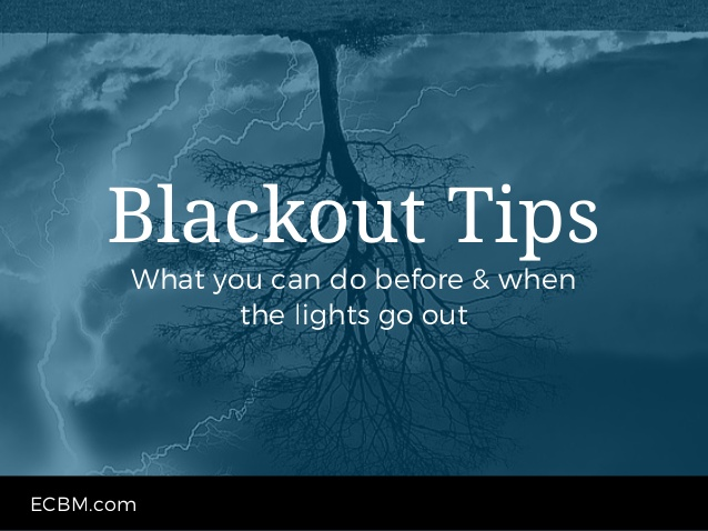 What to do before or when the lights go out