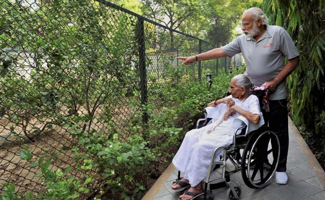 PM Modi's Mother Heeraben Visits His Official Residence