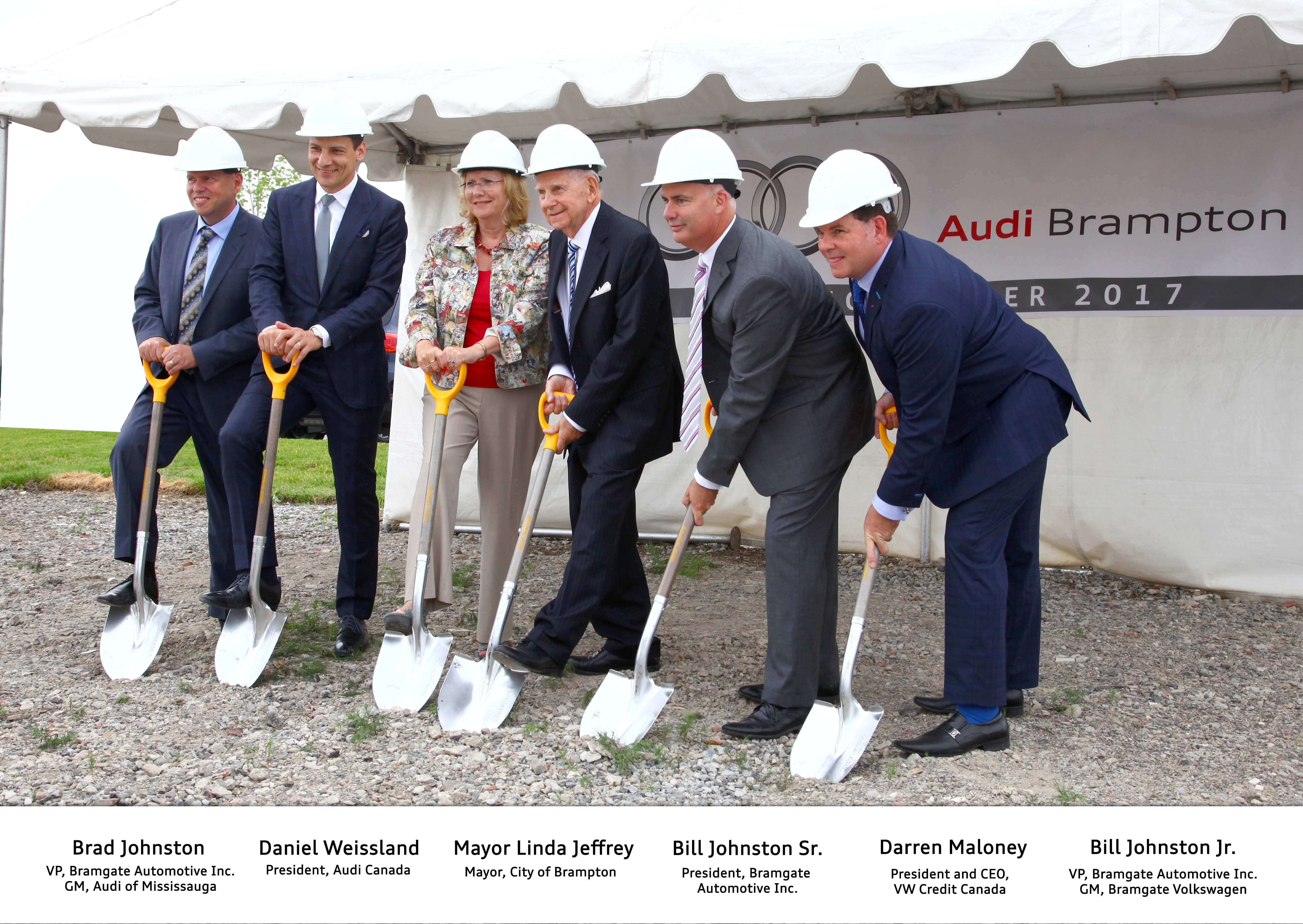 Audi Brampton Breaks Ground On New Dealership in 410 – Mayfield Auto Mall